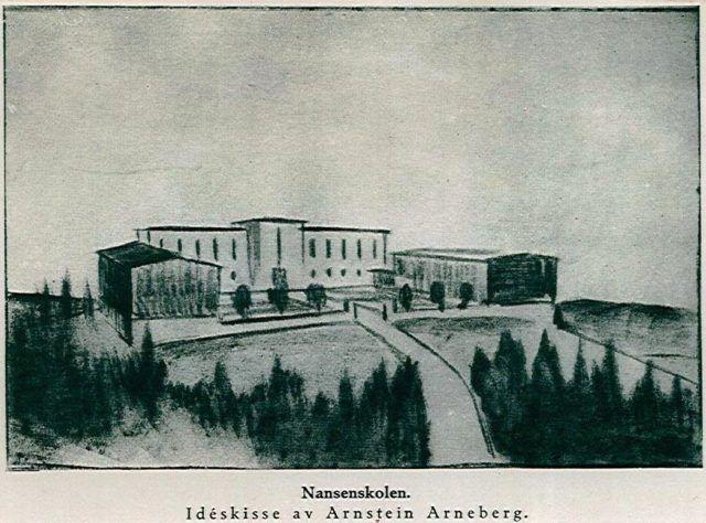 Bygningen Arneberg Skisse